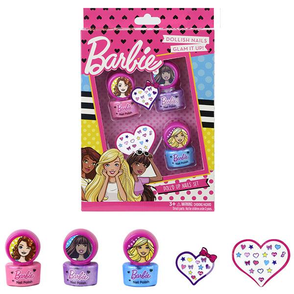 Markwins 9708351 Barbie Игровой набор детской декоративной косметики для ногтей