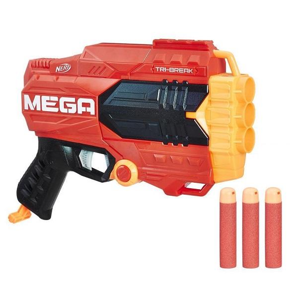 Hasbro Nerf E0103 Нерф Мега Три-брейк игрушечное оружие nerf hasbro бластер зомби страйк сайдстрайк