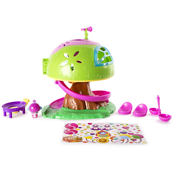 Popples 56307 Малыши-прыгуши Игровой набор Дом на дереве кукольные домики и мебель balbi игровой набор домик на дереве tt 010