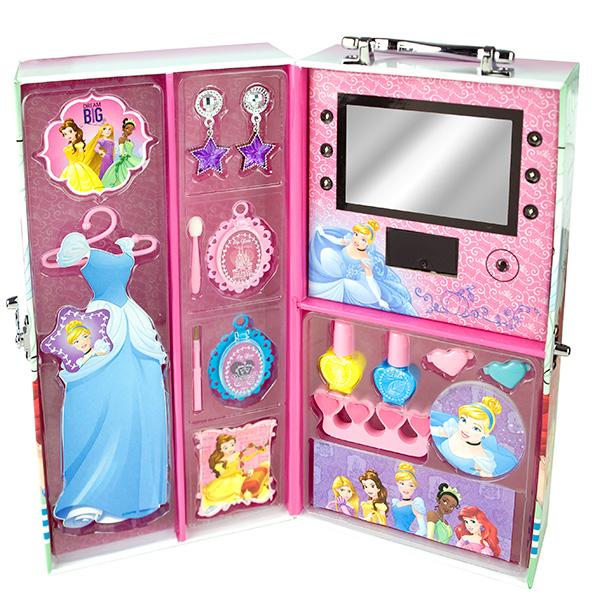 Markwins 9604351 Princess Набор детской декоративной косметики в чемодане с подсветкой