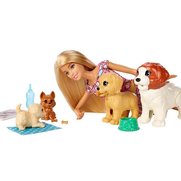 Mattel Barbie FXH08 Барби и щенки