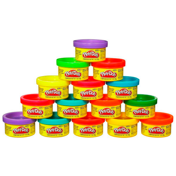 Hasbro Play-Doh 18367 Набор Пластилина для Праздника (15 банок) набор для лепки hasbro play doh цвета и формы 8 цветов