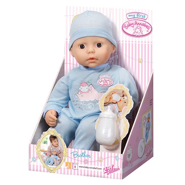 Zapf Creation my first Baby Annabell 794-456 Бэби Аннабель Кукла-мальчик с бутылочкой, 36 см