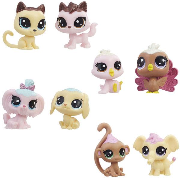 Hasbro Littlest Pet Shop E0399 Литлс Пет Шоп Набор игрушек 2 Зефирных Пета доска пиши стирай 21 27 2 5см littlest pet shop на магнитах маркер с магнитом