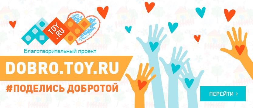 Благотворительный проект Toy.ru! Поделись доброТОй!