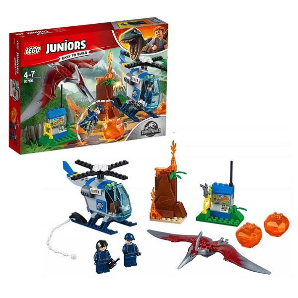 Lego Juniors 10756 Конструктор Лего Джуниорс Jurassic World Побег Птеранодона lego juniors 10765 конструктор лего джуниорс подводный концерт ариэль