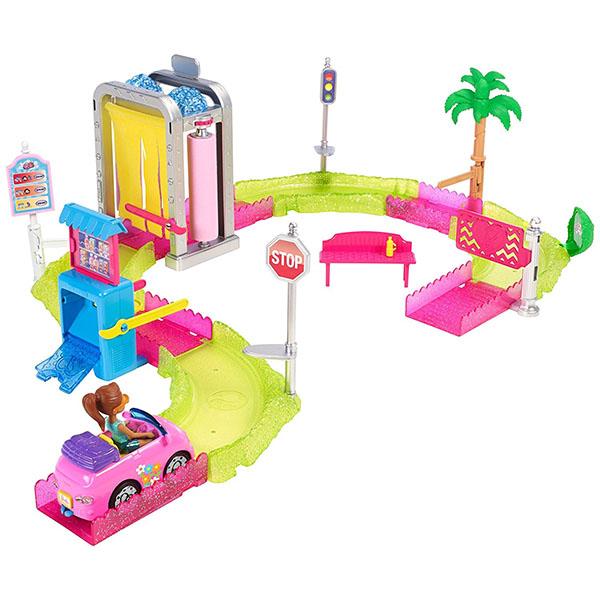 Mattel Barbie FHV91 Барби В движении Игровой набор Мойка машины mattel mattel кукла ever after high мишель мермейд