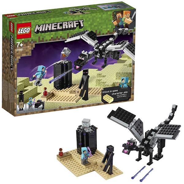 цена на LEGO Minecraft 21151 Конструктор ЛЕГО Майнкрафт Последняя битва
