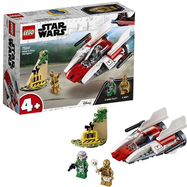 Lego Star Wars 75247 Конструктор Лего Звездные Войны Звёздный истребитель типа А lego lego star wars microfighters 75160 микроистребитель типа u