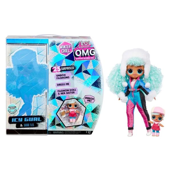 L.O.L. Surprise 570240 Кукла OMG Winter Chill Icy Gurl and Brrr B.B.