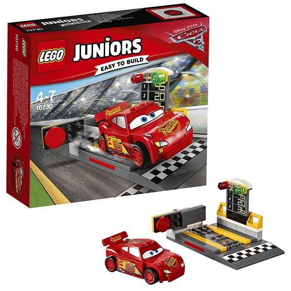 Lego Juniors 10730 Конструктор Лего Джуниорс Тачки Устройство для запуска Молнии МакКуина конструктор lego juniors устройство для запуска молнии маккуина 10730