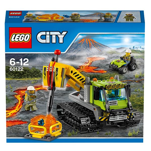 LEGO City 60122 Конструктор ЛЕГО Город Вездеход исследователей вулканов