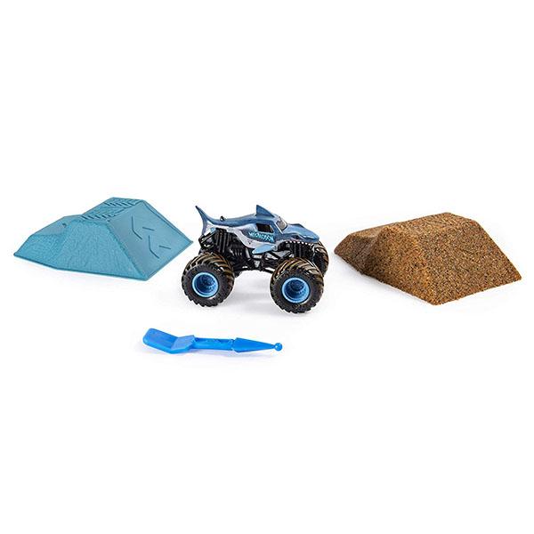 цена на Monster Jam 6053302 Монстр Джем набор машинка и песок 1