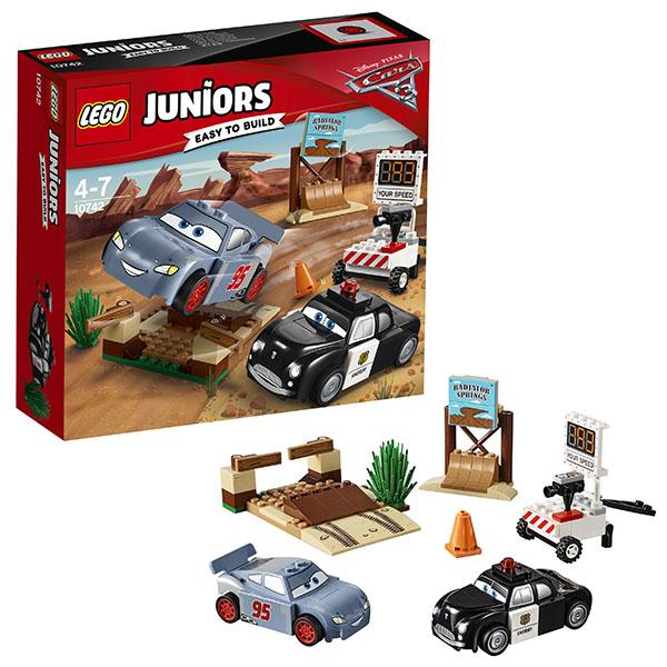 Lego Juniors 10742 Лего Джуниорс Тачки Тренировочный полигон Вилли Бутта lego juniors 10739 лего джуниорс ниндзяго нападение акулы
