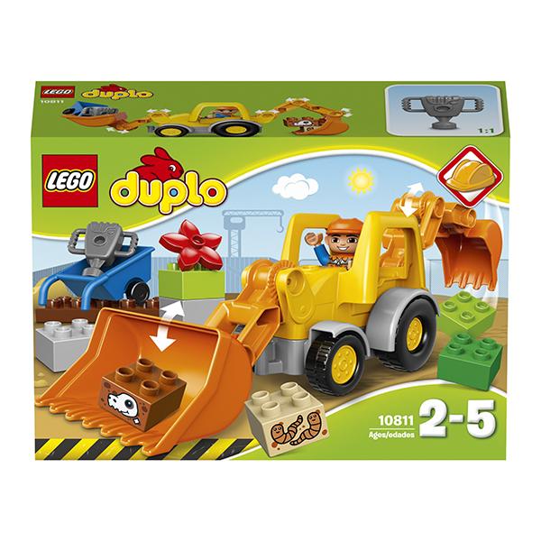 Лего Дупло 10811 Конструктор Экскаватор-погрузчик
