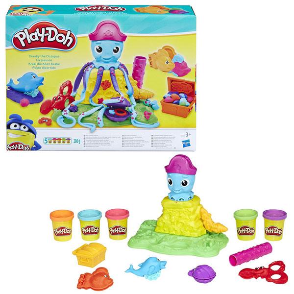 Hasbro Play-Doh E0800 Игровой набор Веселый Осьминог наборы для лепки play doh игровой набор сумасшедшие прически