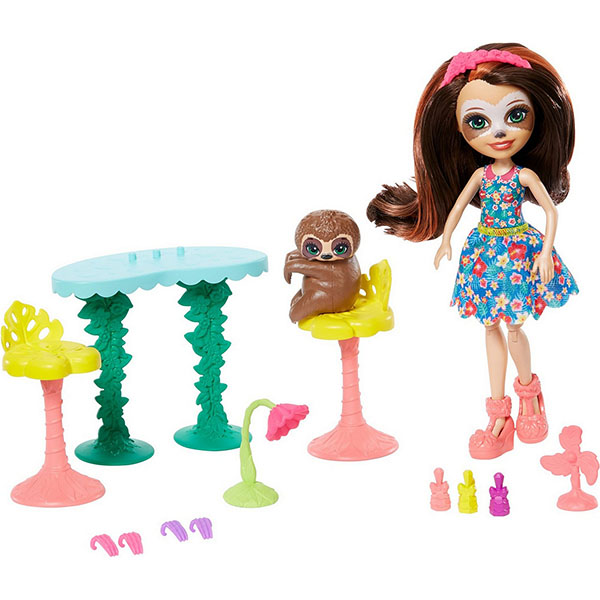 Mattel Enchantimals GFN54 Кукла со зверюшкой и тематическим набором кукла enchantimals со зверушкой и тематическим набором fcc62 праздник фламинго
