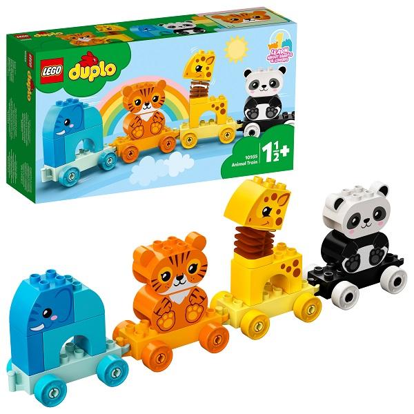 Фото - LEGO DUPLO 10955L Конструктор ЛЕГО Дупло Поезд для животных конструктор lego duplo my first поезд для животных 10955