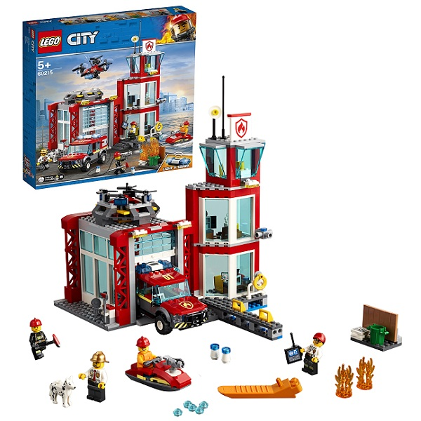 LEGO City 60215 Конструктор ЛЕГО Город Пожарные: Пожарное депо