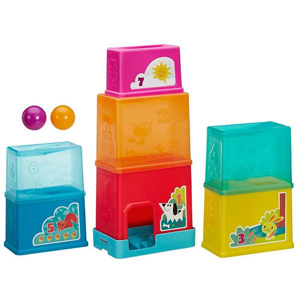 Hasbro Playskool B5847 Складная башня hasbro play doh игровой набор из 3 цветов цвета в ассортименте с 2 лет