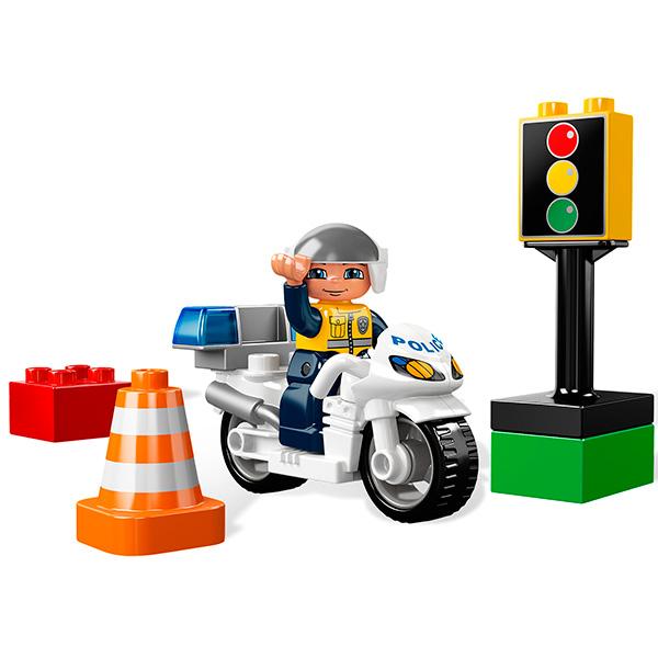 Лего Дупло 5679 Конструктор Полицейский мотоцикл