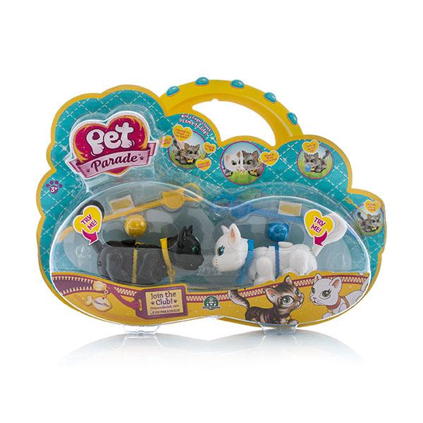Pet Club Parade PTC01111 Пет Клаб Парад Фигурки кошечек с мячиком и поводком, в ассортименте