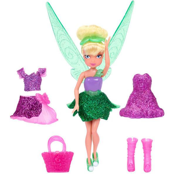 Disney Fairies 818020 Дисней Фея 11 см., кукла с волосами и платьем (3 (в ассортименте) кукла disney фея 3 платья 11 см 74734 в ассортименте