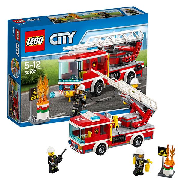 Lego City 60107 Конструктор Лего Город Пожарный автомобиль с лестницей lego city 60107 лего город пожарный автомобиль с лестницей