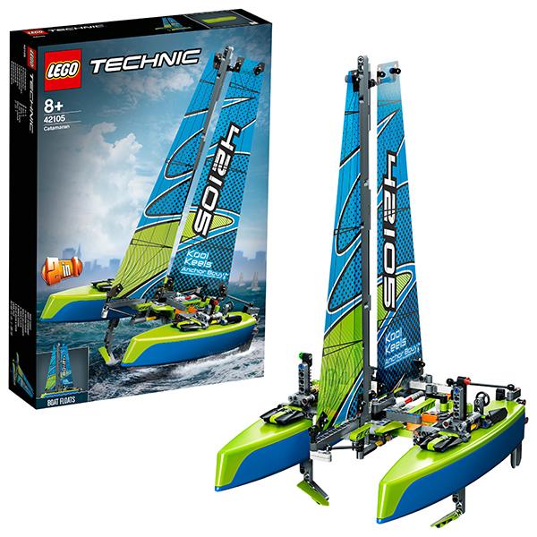 LEGO Technic 42105 Конструктор ЛЕГО Техник Катамаран lego technic 42080 конструктор лего техник лесозаготовительная машина