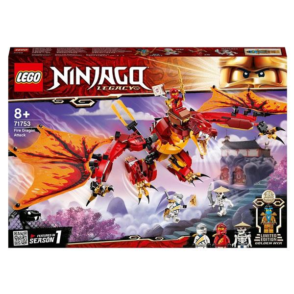 LEGO Ninjago 71753 Конструктор ЛЕГО Ниндзяго Атака огненного дракона