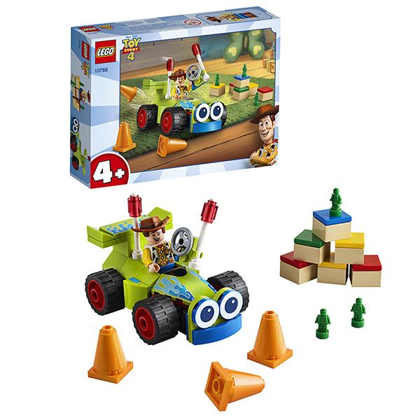 LEGO Juniors 10766 Конструктор ЛЕГО Джуниорс История игрушек-4: Вуди на машине lego juniors 10726 конструктор лего джуниорс карета стефани