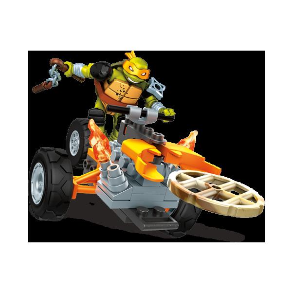 Mattel Mega Bloks FFC54 Мега Блокс Черепашки Ниндзя: замаскированный транспорт Мики игровой набор mattel mega bloks черепашки ниндз вечеринка черепашек dmx54