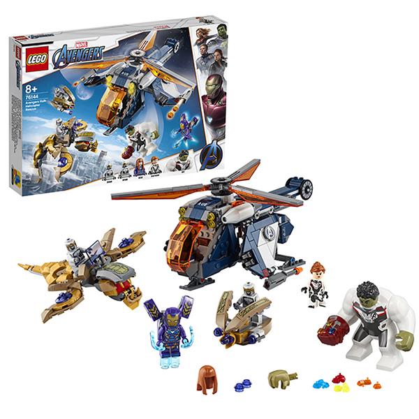 LEGO Super Heroes 76144 Конструктор ЛЕГО Супер Герои Мстители: Спасение Халка на вертолёте детское лего sluban airbus lego b0366