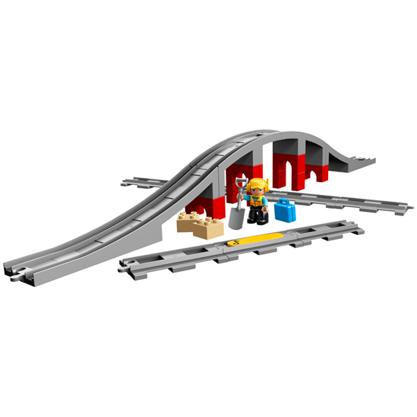 LEGO DUPLO 10872 Конструктор ЛЕГО ДУПЛО Железнодорожный мост и рельсы
