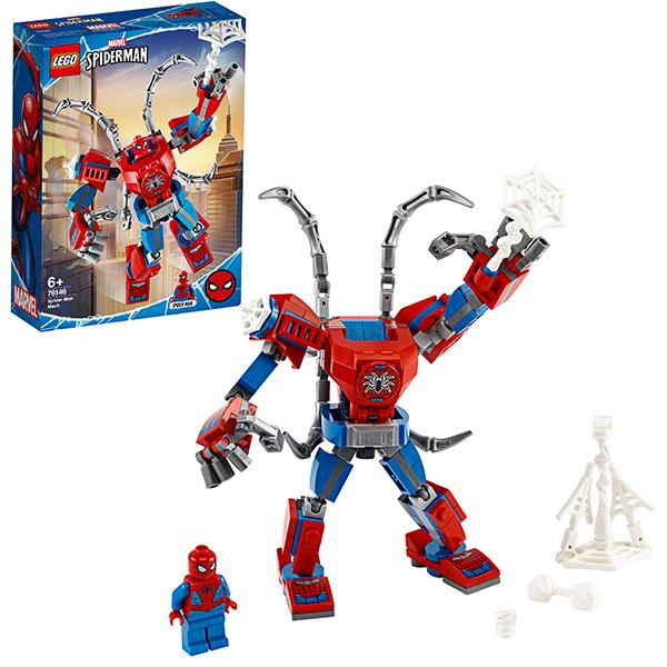 цена на LEGO Super Heroes 76146 Конструктор ЛЕГО Супер Герои Человек-Паук: трансформер