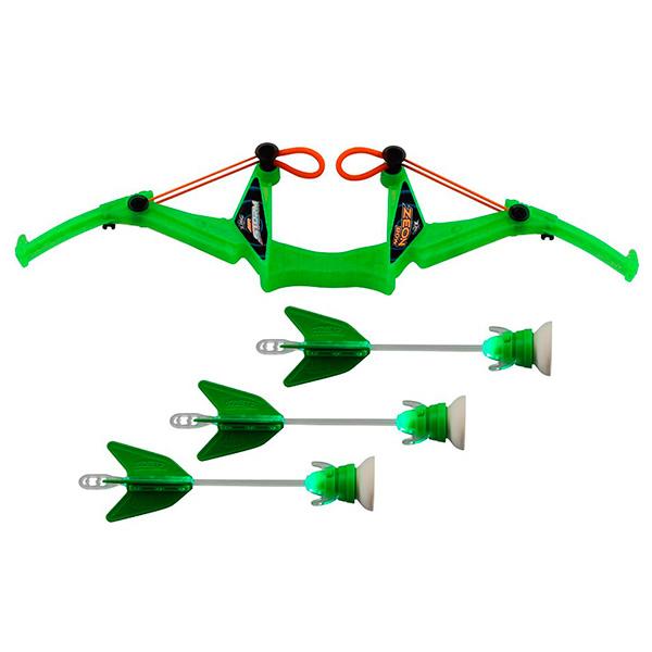 Zing FT811 Зинг Лук с подсветкой средний 3 стрелы (в ассортименте) игрушка ракеты с подсветкой 2 шт с пусковым устройством zing
