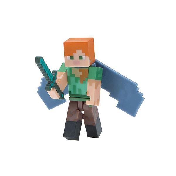 Minecraft 16492 Майнкрафт фигурка Alex with Elytra Wings bandai фигурка minecraft mine charact box alex 4 см