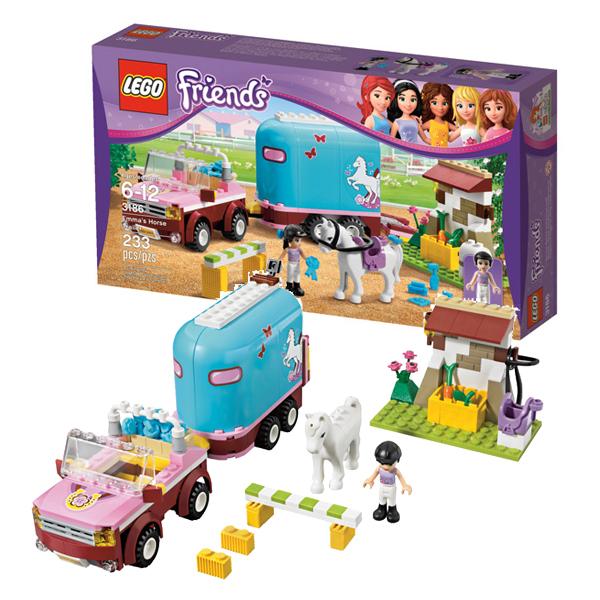 Конструктор Lego Friends 3186 Лего Подружки Эмма и трейлер для её лошадки