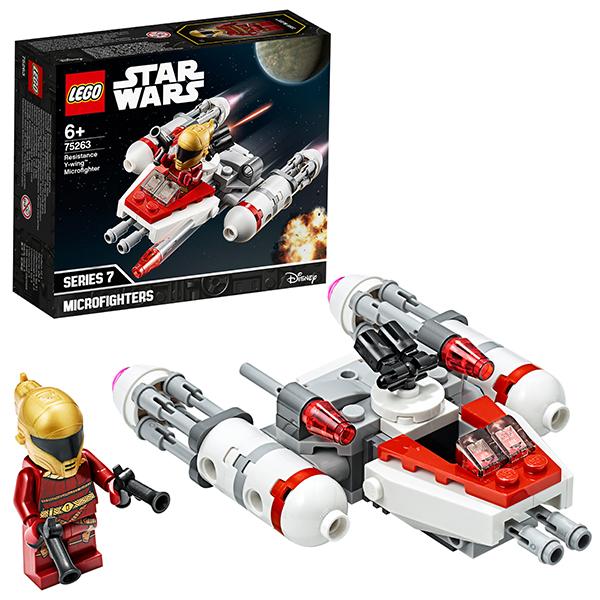 LEGO Star Wars 75263 Конструктор ЛЕГО Звездные войны Микрофайтеры: Истребитель Сопротивления типа Y цена 2017
