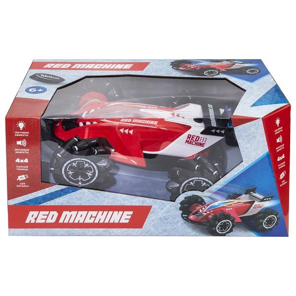 RED MACHINE YK-2053RM Машина на катках с выхлопом в виде пара (свет, звук), Р/У, USB-зарядка