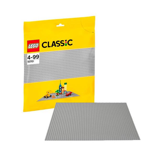 Lego Classic 10701 Конструктор Лего Классик Строительная пластина серого цвета 2304 конструктор lego duplo строительная пластина 38х38 1 элемент 2304