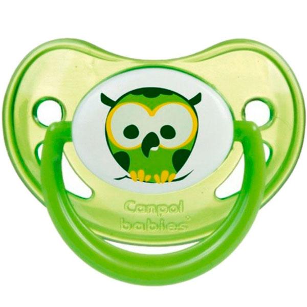 Canpol babies 250930233 Пустышка анатомическая силиконовая, Night Dreams, зеленая, 0-6м
