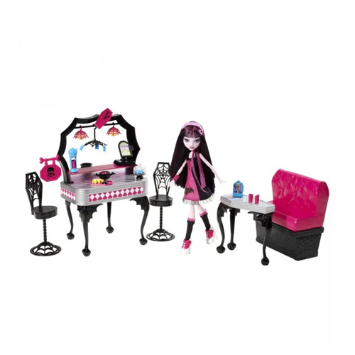 Monster High 7719Y Школа Монстров Монстр Хай Ресторан Дракулауры