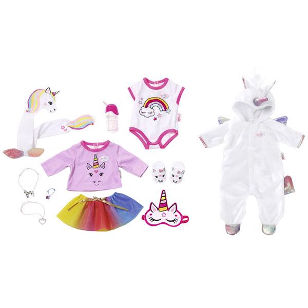 "Zapf Creation Baby born 826-201 Бэби Борн Набор одежды ""Сказочный Единорог"", 43 см my little baby born комплект одежды для дома 823 149"