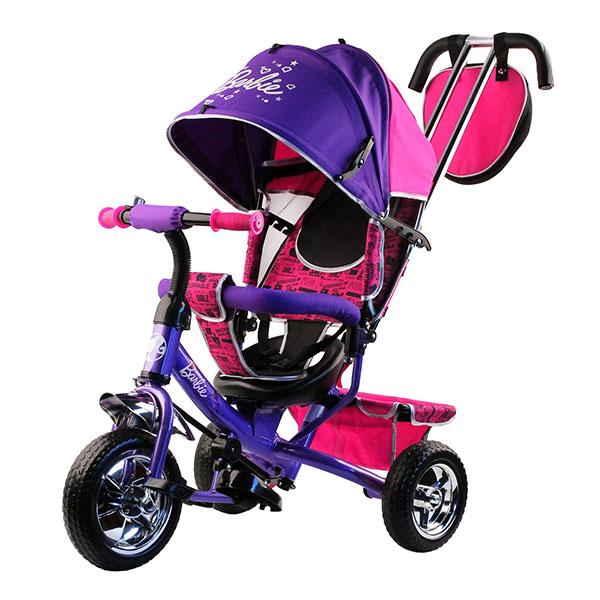 BARBIE HB7VS Велосипед-коляска Barbie, колеса 10и 8,с руч.управ.,наклонная спинка,фиолетов.