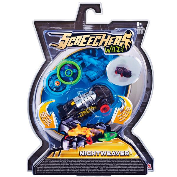 Screechers Wild 34820 Дикие Скричеры Машинка-трансформер Найтвивер л1