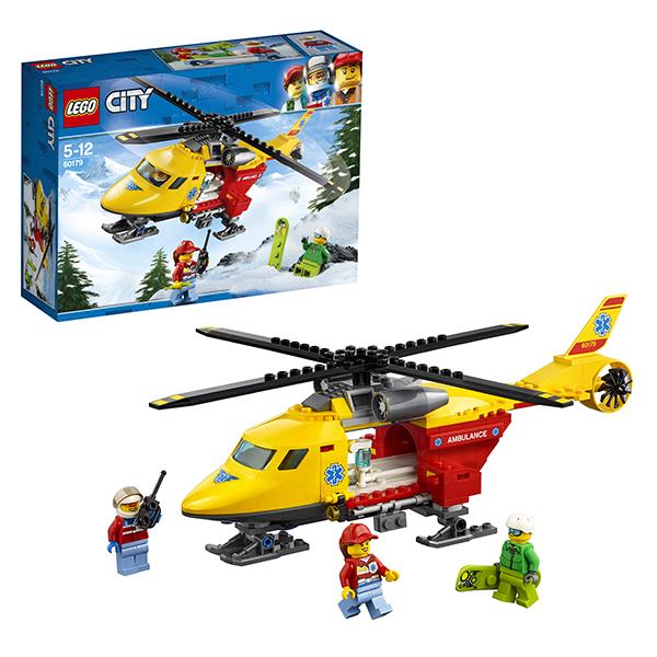 Lego City 60179 Конструктор Лего Город Вертолёт скорой помощи lego city 60110 лего город пожарная часть