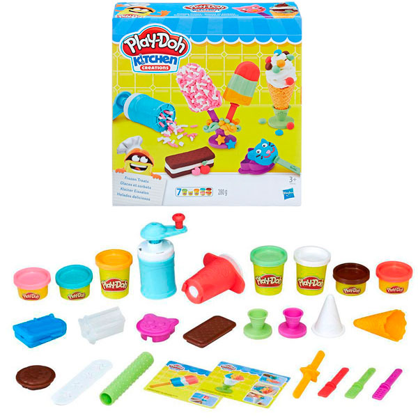 Hasbro Play-Doh E0042 Игровой набор Создай любимое мороженое набор для лепки hasbro play doh цвета и формы 8 цветов