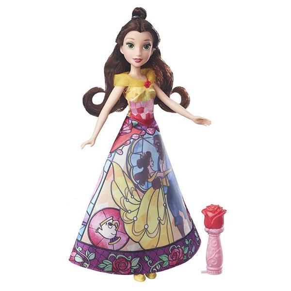 Hasbro Disney Princess B5295/B6850 Модная кукла Принцесса с проявляющимся принтом Белль фигурки disney showcase фигурка принцесса белль бесстрашная принцесса