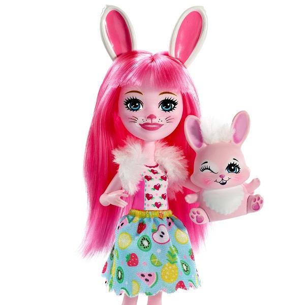 Mattel Enchantimals FXM73 Кукла с питомцем Кролик Бри